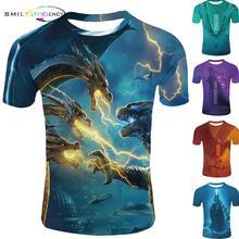 Mens Fashion 2019 3d T-shirt Godzilla T Short Sleeve Shirt M