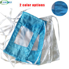 New Polyester Cloth Clean Room Face Mouth Mask Unisex Anti-dust Respirator Stop Air Pollution Blue White Mouth-muffle Masks