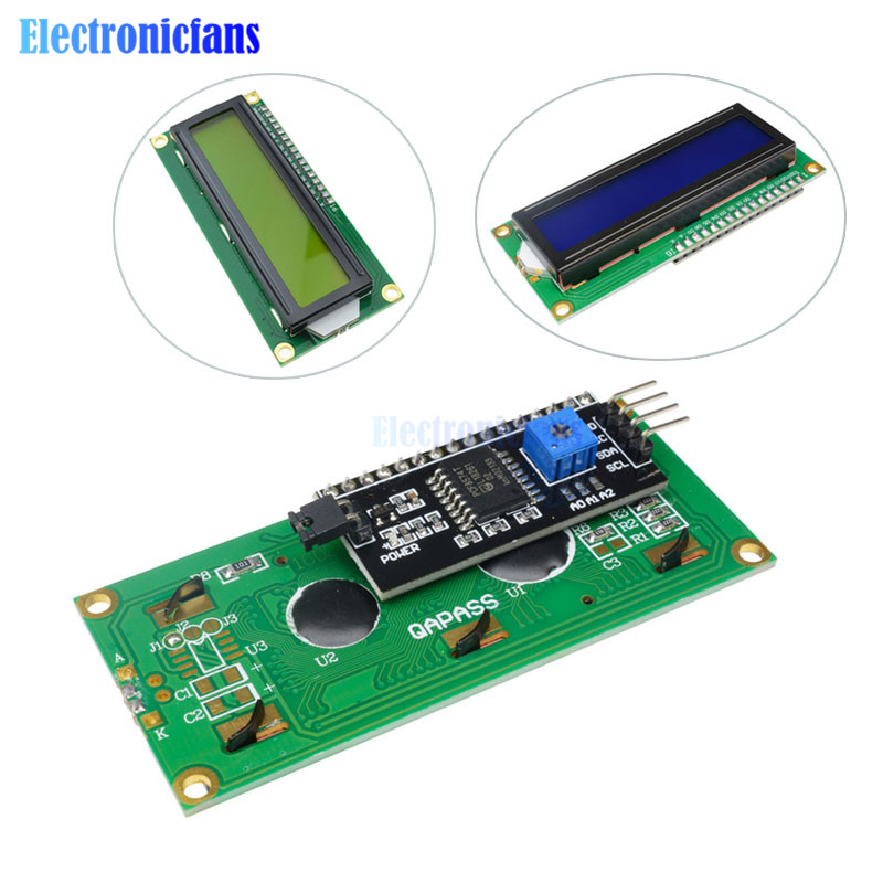LCD Module Blue Green Screen IIC I2C Interface 1602 16*2 LCD 5V For Arduino 1602 LCD UNO R3 Mega2560 LCD1602 Adapter Plate