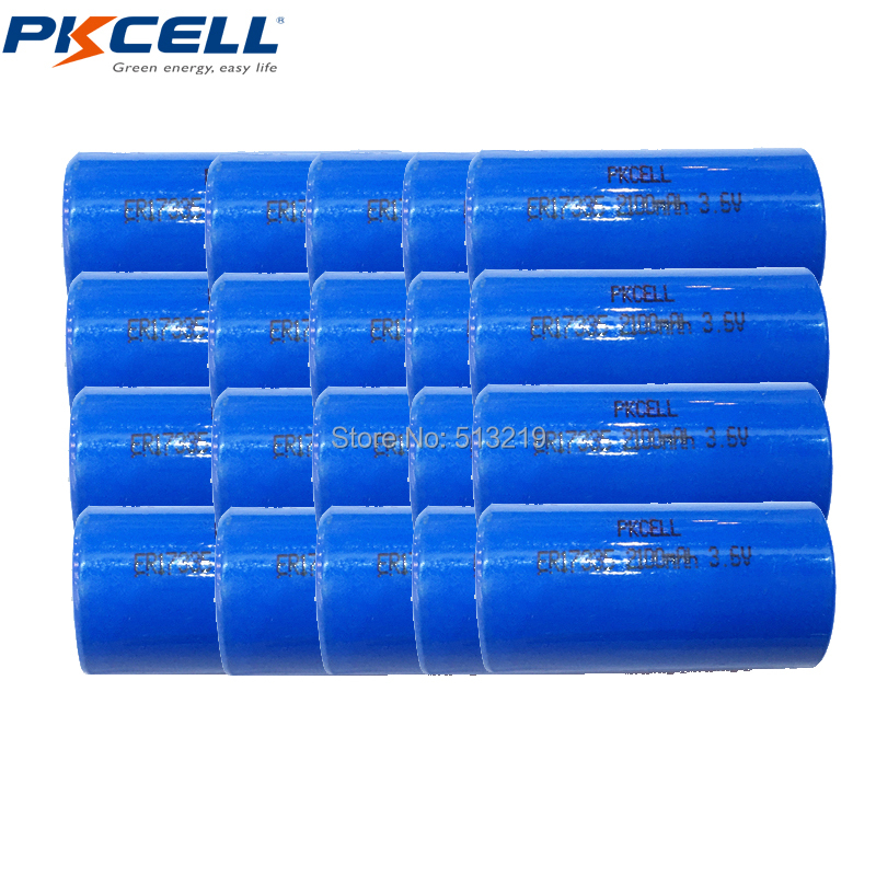 20PCS Li-SOCl2 3.6V ER <font><b>17335</b></font> ER17335 ER 2/3A lithium battery unrechargeable battery 2/3A Batteries Superior to CR17335 Batterie image
