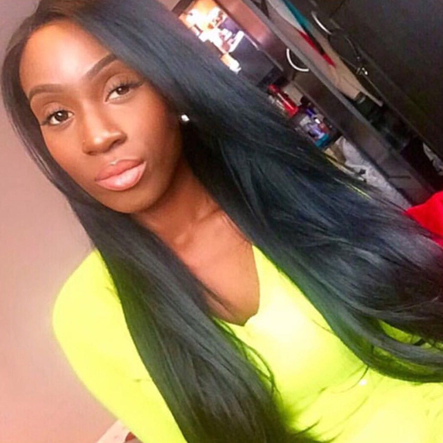 250% Density Lace Front Human Hair Wigs For Black Women Straight You May Brazilian Human Hair Wigs Non-remy Hair Lace Front Wigs