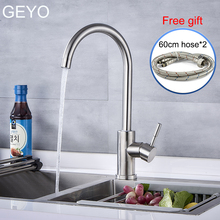цены GEYO Modern Kitchen Basin Faucets Hot And Cold  Sink Mixer Taps Kitchen Bathroom Taps Single Lever Faucet Black Basin Mixer