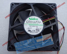 Free Shipping For Nidec U92T12MGA7-53, J31 DC 12V 0.18A, 92x92x25mm 3-wire Server Square Cooling Fan