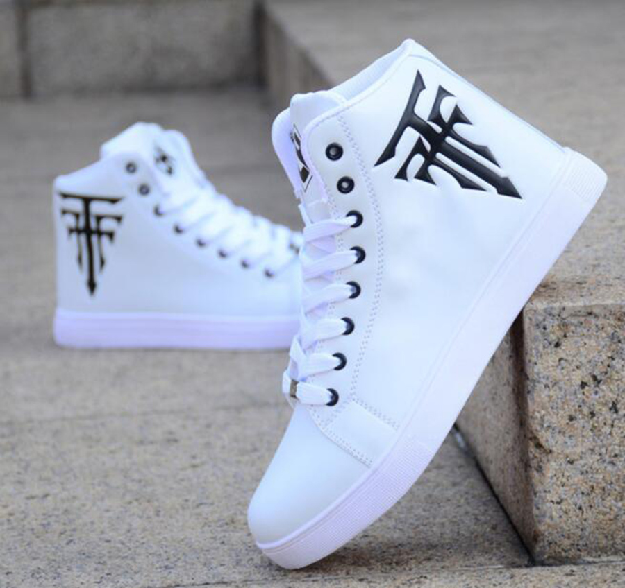 Hot  Sale Models Explosion Models White High-top Shoes Men's Skate Shoes Casual Fashion Wear-resistant Stitching