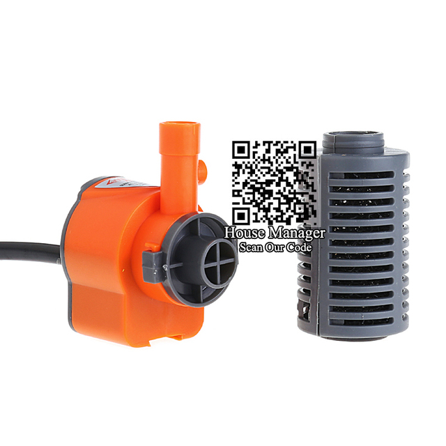 Mini pompe filtrante daquarium 3W   Petite pompe pour filtre éponge + débit deau + augmentation dair, filtre pour Aquarium, bon marché