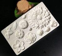 버터 크림 꽃 금형 퐁당 케이크 장식 도구 공예품에 대한 실리콘 금형 초콜릿 베이킹 도구 케이크 Gumpaste Fim H751