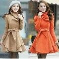 Hot New Corea moda otoño invierno abrigo de lana abrigo