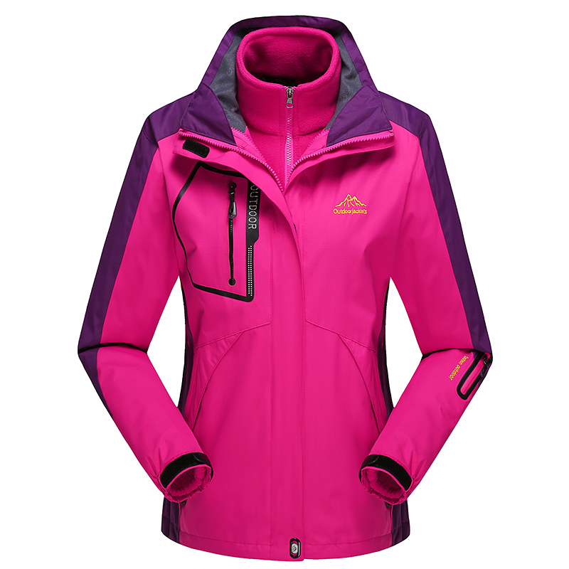 Befusy Two-Pieces Fleece liner Removable Women Men Outdoor Camping Hiking Waterproof Windproof Mountain Sport Thicken Ski Jacket detector men ski jacket hight waterproof mountain hiking camping jacket fleece hight windproof ski jacket