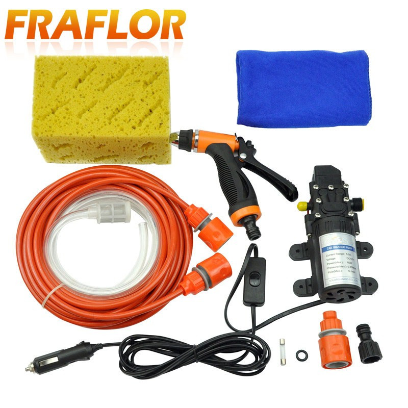 Free Shipping High Pressure Self-priming Electric Car Wash Washer Water Pump 12V Car Washer Washing Machine Cigarette Lighter(China)