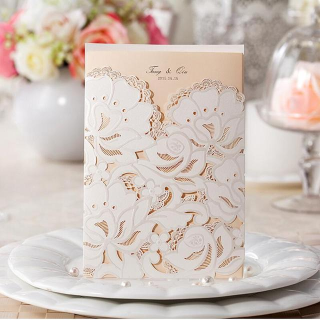 50pcspack customize wedding invitations flower hollow patterns cards laser cut elegant birthday invitation card free shipping in cards invitations 50pcspack customize wedding invitations flower hollow patterns cards laser cut elegant birthday invitation c