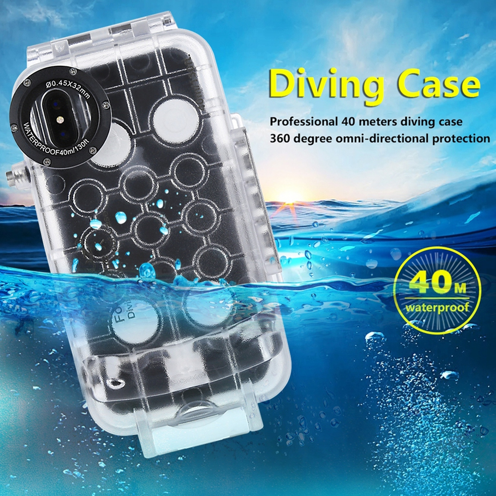 PULUZ Diving Phone Housing For iPhone X 40m/130ft Professional Waterproof Sealed Underwater Protective Cover Case For iPhone XPULUZ Diving Phone Housing For iPhone X 40m/130ft Professional Waterproof Sealed Underwater Protective Cover Case For iPhone X