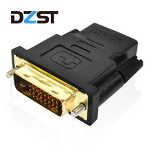 DZLST High Quality DVI 24+1 Male to HDMI Female Converter HDMI to DVI adapter Support 1080P for HDTV LCD Drop shipping(China)