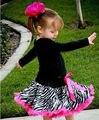 2016 Девушки Летние Юбки Зебра Принцесса Ребенок Цветок Балетная Пачка Танца Платье Юбка 1-7 Ys