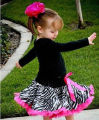 2016 Girls Summer Skirts Zebra Princess Child Flower  Ballet Tutu Dance Gown Skirt 1-7 Ys