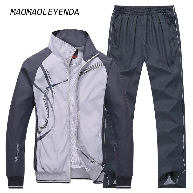 maomaoleyenda 남성 스포츠 남성 스포츠 세트 브랜드 운동복 후드 스웨터 남성 재킷 + 바지 2 개 5xl 플러스 사이즈