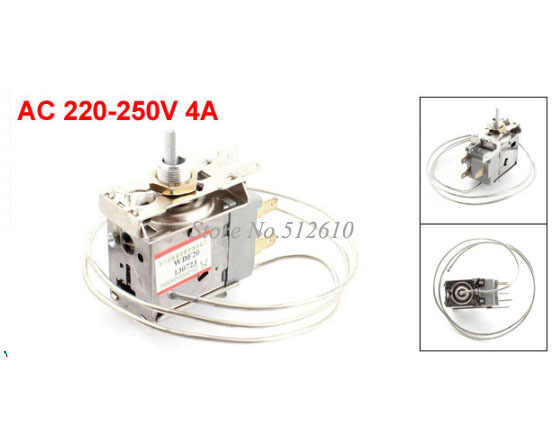 WDF20-L AC 220-250V 4A 3Pin Temperature Control Freezer Thermostat for Electric Refrigerator
