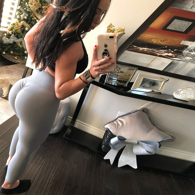 Women Leggings Polyester High Quality High Waist Push Up Elastic Casual Workout Fitness Sexy Pants