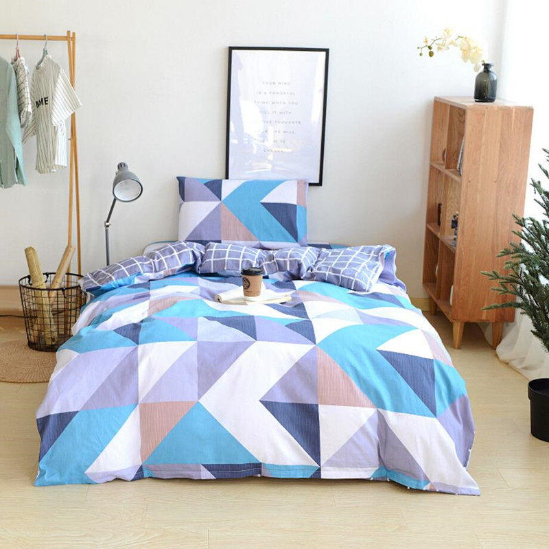 Cotton Bedding Set Brief Style Sheet Pillowcase Duvet Cover Sets 3pcs/lot Bedding Linens For Single Bed XF5-2Cotton Bedding Set Brief Style Sheet Pillowcase Duvet Cover Sets 3pcs/lot Bedding Linens For Single Bed XF5-2