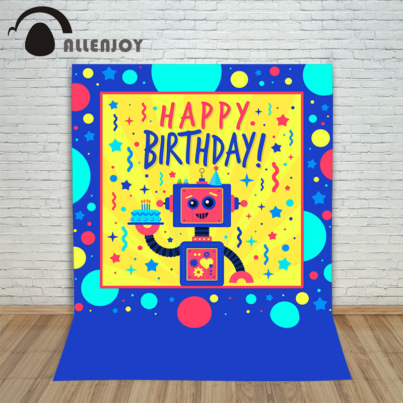 Allenjoy photography backdrops robot circles cake anniversary photo background christmas photographic background