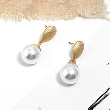 Fashion Simple Lady Earring Water Drop Artificial Pearl Ear Stud Jewelry Temperament Charm Women Earrings Gifts