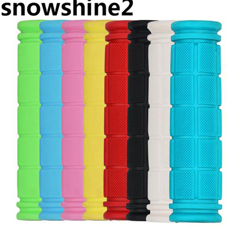snowshine2 #3001 Bicycle Handlebar Grips Fixie Fixed Gear Bike Rubber 8 Colors wholesale грипсы ethic rubber grips blue