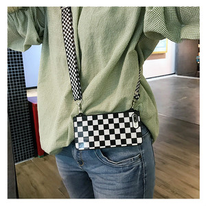 Image 5 - Black White Checkered Plaid Phone Crossbody Case Cover with long strap chain for iPhone 11 PRO XS MAX XR X 6S 7 8 plus Case Cove