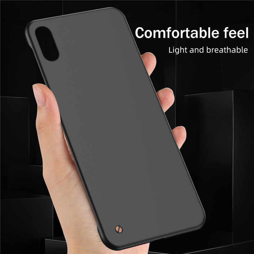 Uslion ultra fino matte frameless caso de telefone para o iphone 11 xs max xr x candy color caso para o iphone 6 s 7 8 plus 11 pro max disco capa traseira