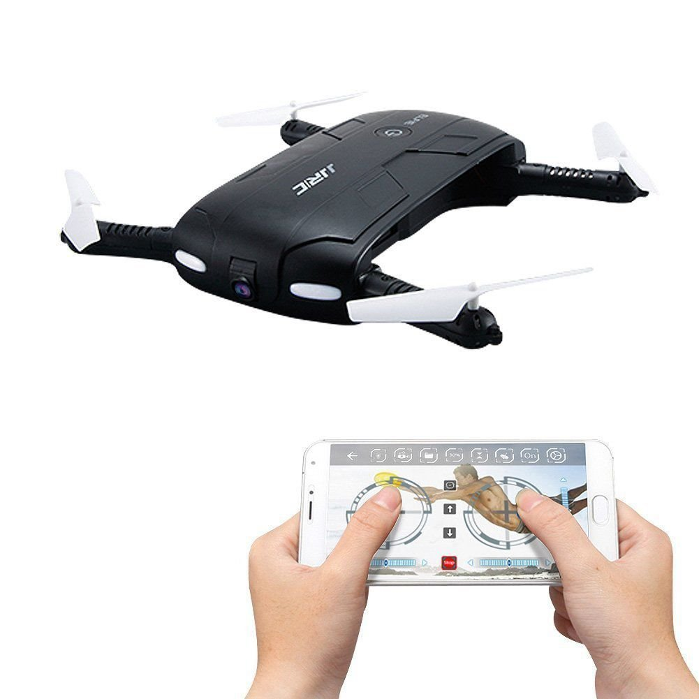 JJRC H37 Elfie Foldable Mini Rc Selfie Drone with Wifi FPV 0.3MP Camera Altitude Hold&Headless Mode&One Key Return RC Quadcopter jjrc h12wh wifi fpv with 2mp camera headless mode air press altitude hold rc quadcopter rtf 2 4ghz