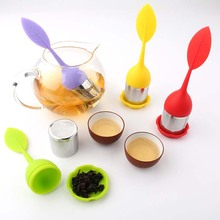 цена на 1PCS Silicone+stainless steel Tea Strainers Sweet Leaf Tea Infusers Teapot for Loose Leaf Herbal Spice Filter Tools Tea Bags
