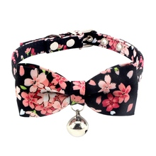 Bowknot Flower Cat Dog Collar Necklace Pet Dog Cat Retr Puppy Collars Neck Strap Bell Collars For puppy Py fashion cat collars