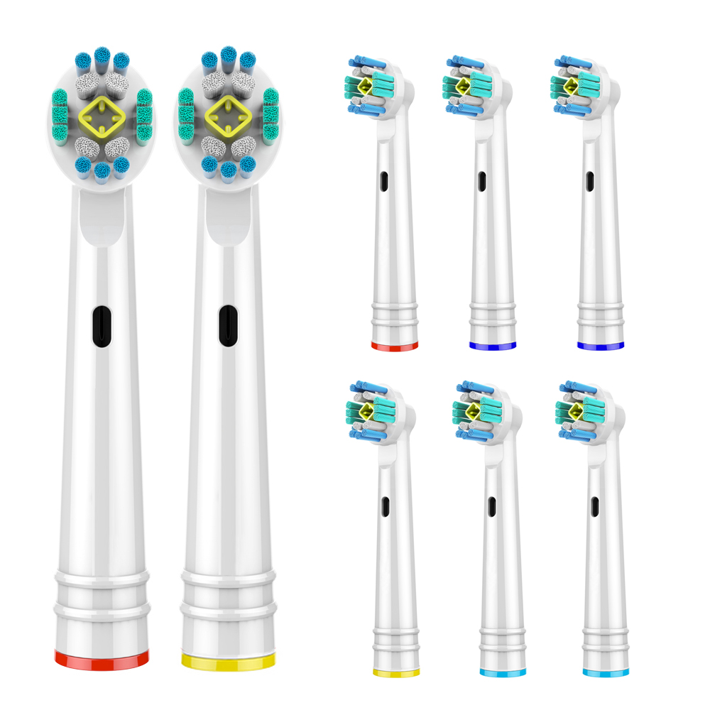 8 PCS 3D PRO White Replacement Toothbrush Heads for Oral B Toothbrush Heads Compatible with Oral-B Electric Toothbrush