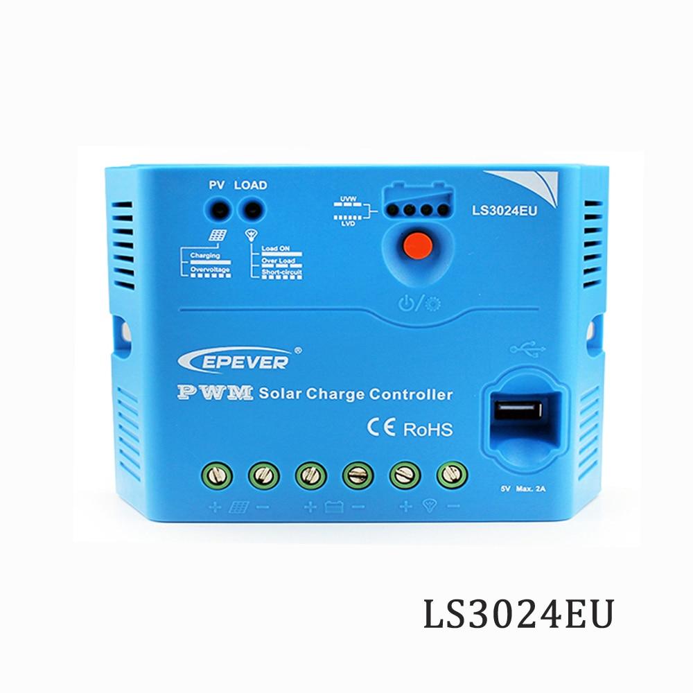 Contrôleur de Charge solaire LS3024EU 30A 12 V 24 V Epsolar PWM PV 100 W 18 V panneaux solaires chargeur régulateurs 5 V port USB