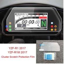 Dla YAMAHA YZF-R1 YZF-R1M 2015 2016 2017 klastra ochrona przed zarysowaniem prędkościomierz folia ochronna na ekran YZF R1 R1M 15 16 17