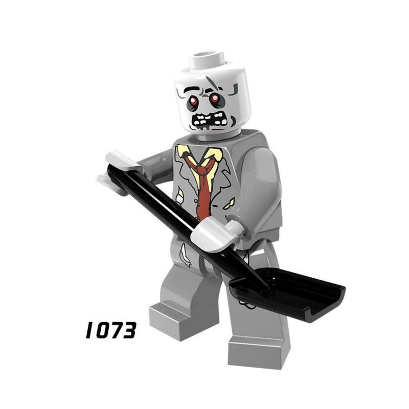 Single Sale Super Heroes Star Wars 1073 Zombies Model Mini Building Blocks Figure Brick Toys Kids Gift Compatible Legoed Ninjaed