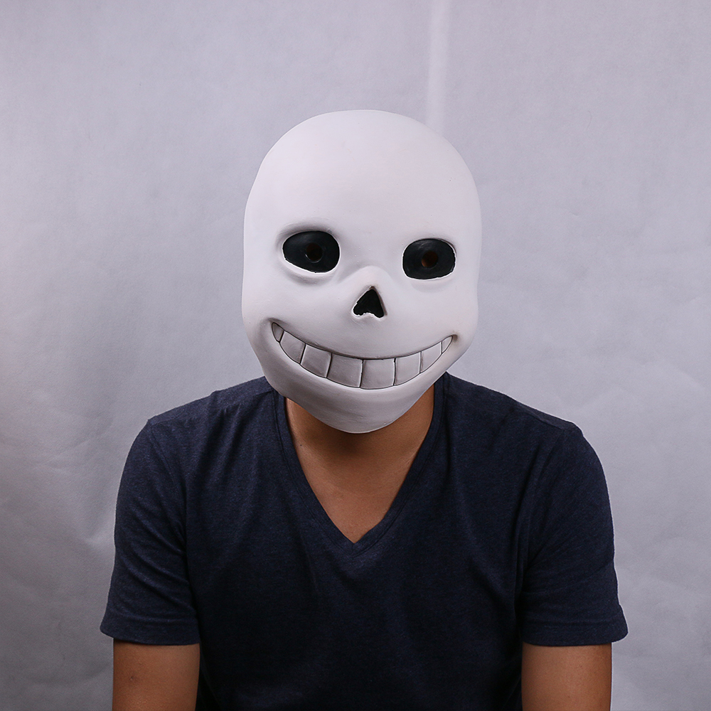 Mask Skull Shaped Made of Latex for Sans Anime Character Cosplay,for Adults