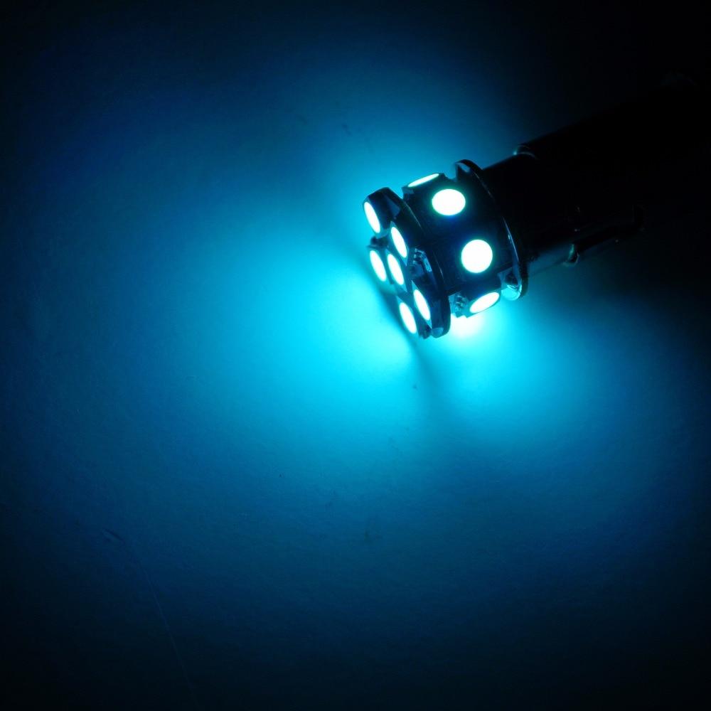 PA LED 10PCS x Car LED Lamp 13SMD T20 7440 5050 LED Car Turn Brake Light Stop Light Lamp Bulb LED 12V ICE BLUE 10pcs car led t20 7443 w21 5w 7440 13 smd led 5050 13smd led clearance lights brake light bulb lamp white red yellow blue 12v