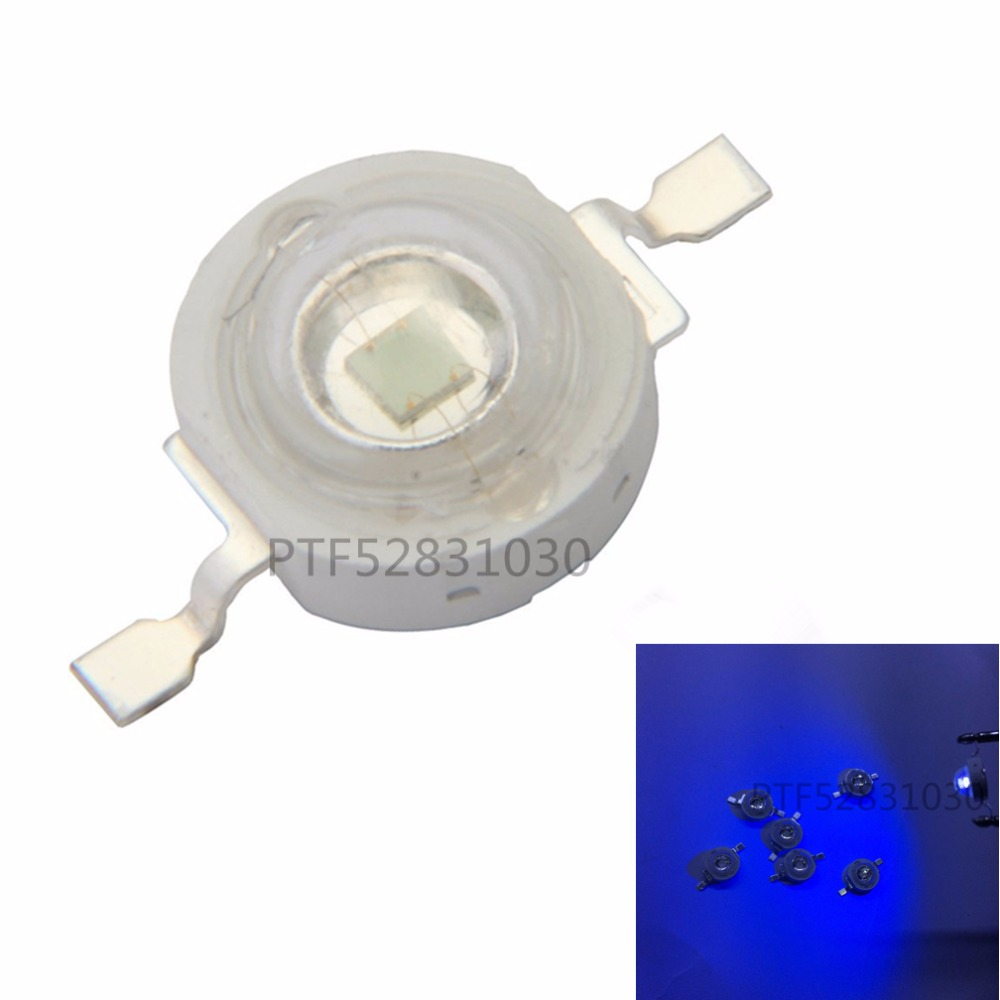 free shipping 50pcs1w 3W Ultra Violet UV Power LED 365-370nm diodes Emitter
