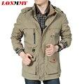 LONMMY 2016 Водонепроницаемый куртки мужчины Jaqueta masculina Бренд одежды Армия ветровка Военные куртки мужчины ветрозащитный пальто мужской