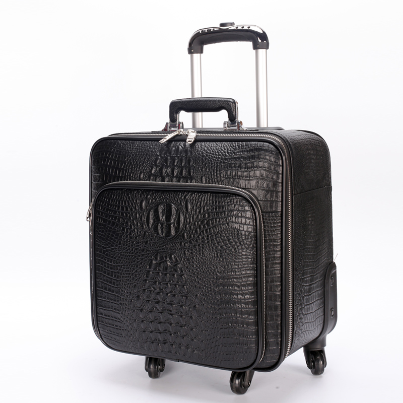 First Layer Of Cowhide Travel Bag Full Genuine Leather Commercial Luggage Trolley Luggage Suitcase,wholesale Genuine Commercial Luggage