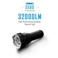IMALENT DX80 светодиодный фонарик с 8 CREE XHP70 светодиодный USB зарядное устройство 32000 люмен IPX 8 водостойкий мульти функция O светодиодный алюминиевы