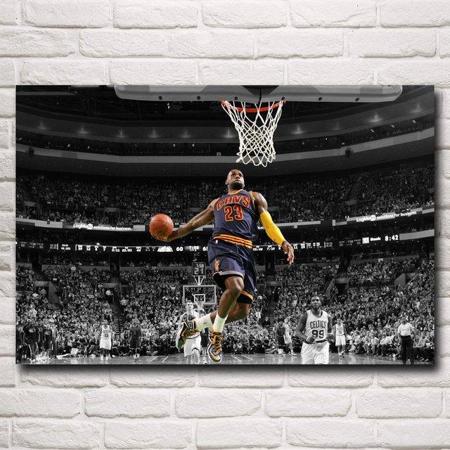 Basketball Star Lebron James Art Silk Fabric Poster Print Sports Pictures Wall 12×18 16×24 20×30 24×36 Inch