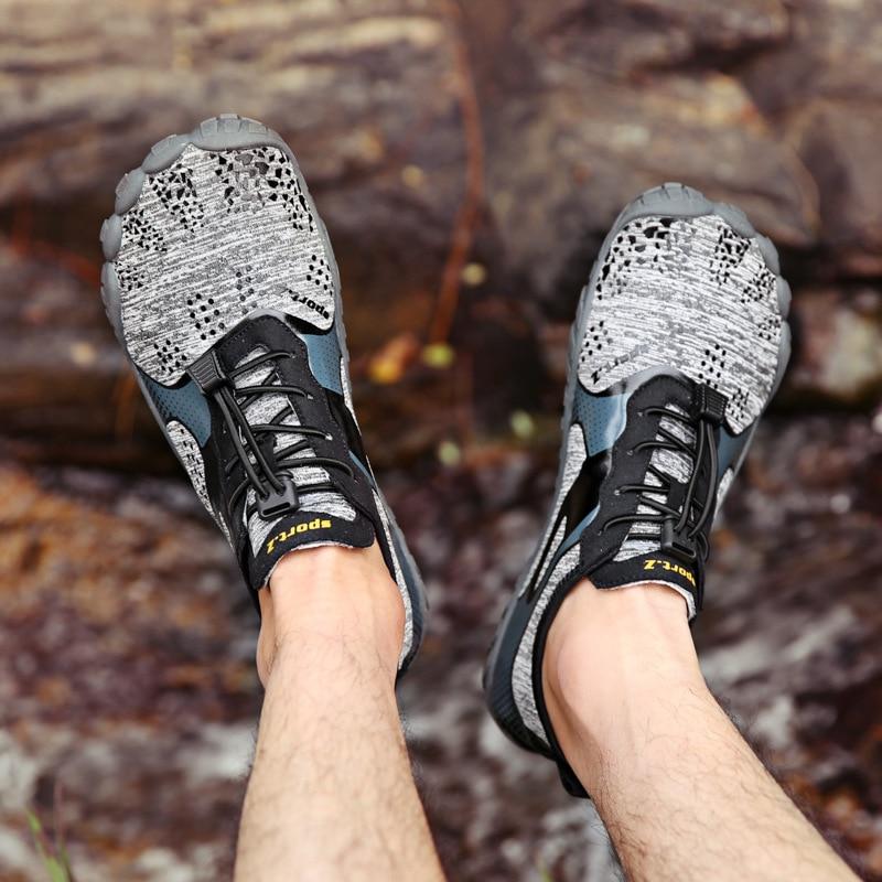 Mens Trekking Shoes Hiking Shoes Mountain Walking Sneakers Men Women Five Toes Auqa Sports Shoes Breathable Climbing Shoes Man