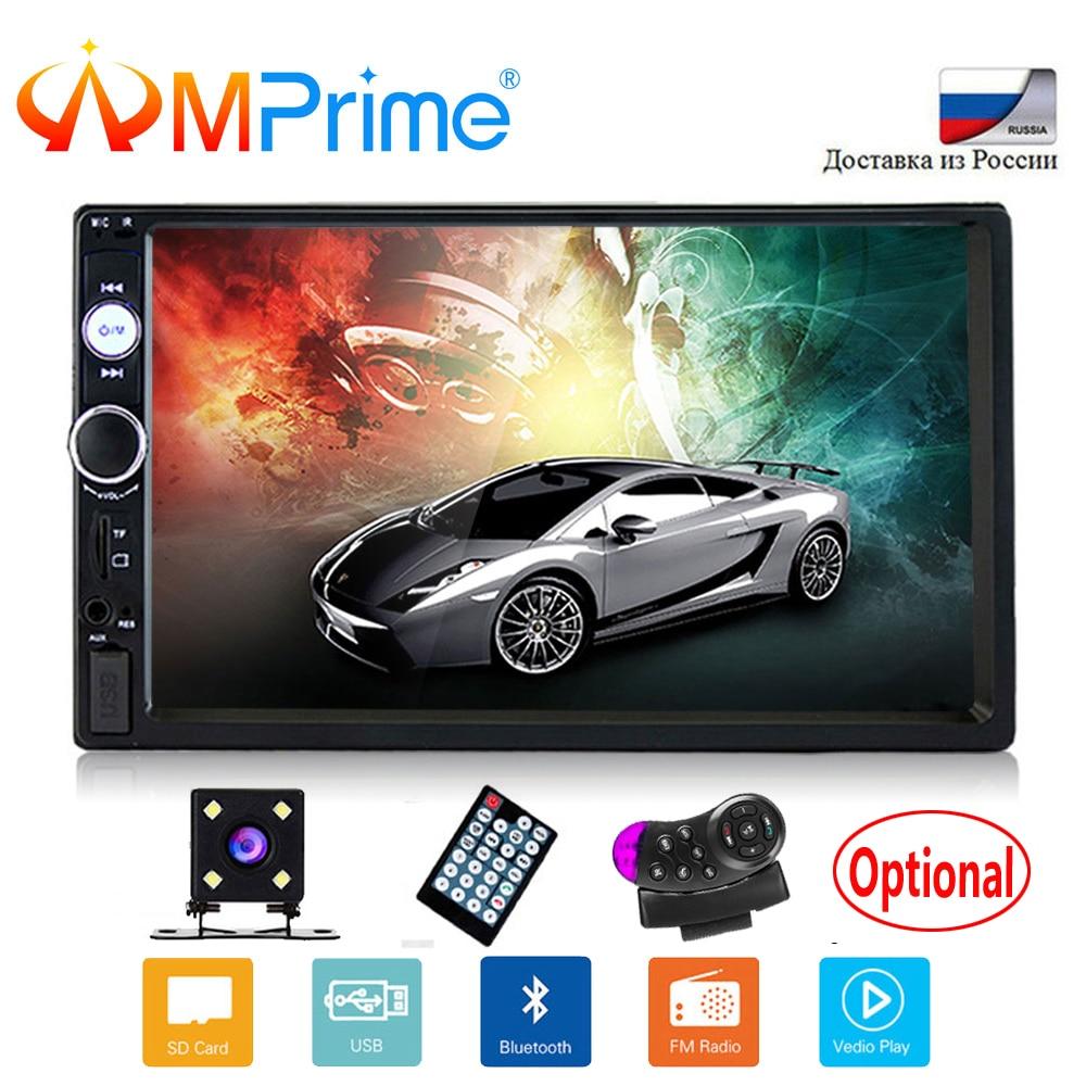 AMPrime 2 Din 7 автомобильный мультимедийный плеер универсальный Bluetooth Сенсорный экран MP5 игрока Авторадио TF USB fm-радио Автомобиль Media Player