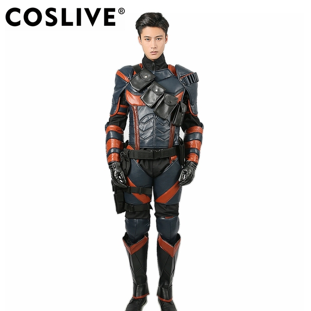 coslive deathstroke armor cosplay costume for game batman arkham knight halloween deluxe adult outfit for
