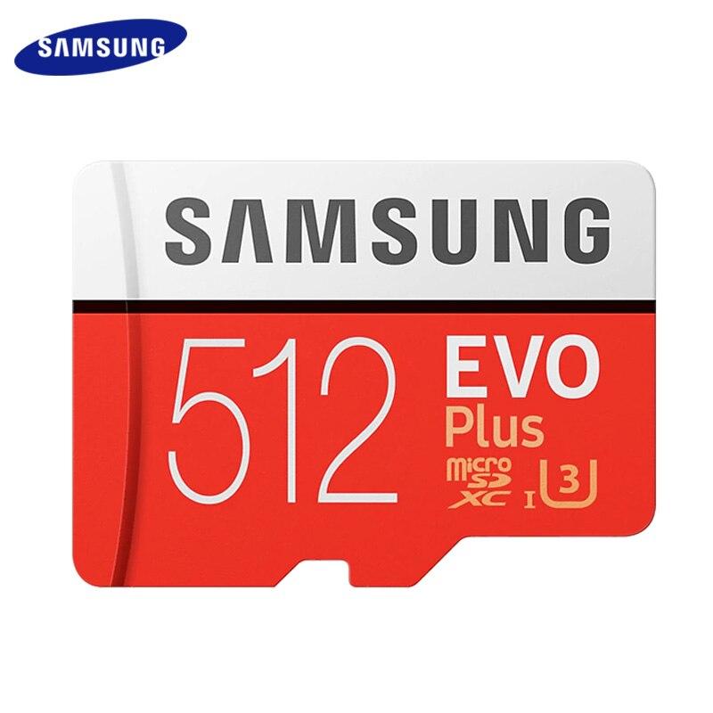 SAMSUNG Cartão Microsd De 256 GB 128G 64GB Cartão Micro SD de 512GB Cartão de Memória TF Cartão de Memória Flash Class10 u3 SDXC I Grau EVO + PLUS