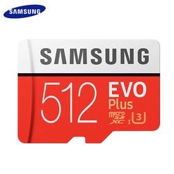 SAMSUNG Microsd Card 256G 128GB 64GB Micro SD Card 512GB Memory Card TF Flash Card Class10 U3 SDXC I Grade EVO+ PLUS