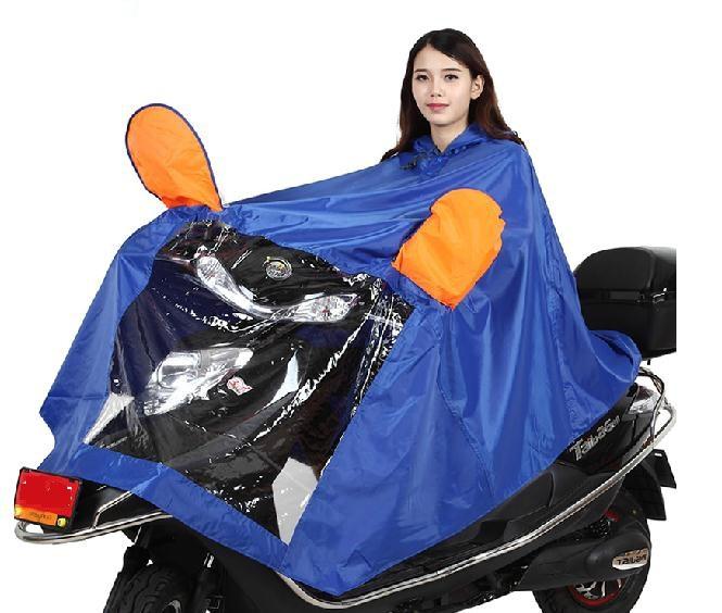 Elétrica única motocicleta capa de chuva poncho transparente aumento espessamento para homens e mulheres