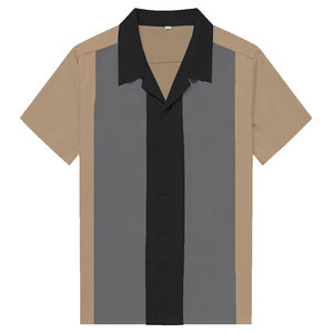 Image 2 - チャーリーハーパーシャツ縦ストライプのシャツ男性 50 ロカビリーシャツボタンダウン綿シャツ半袖ヴィンテージドレス