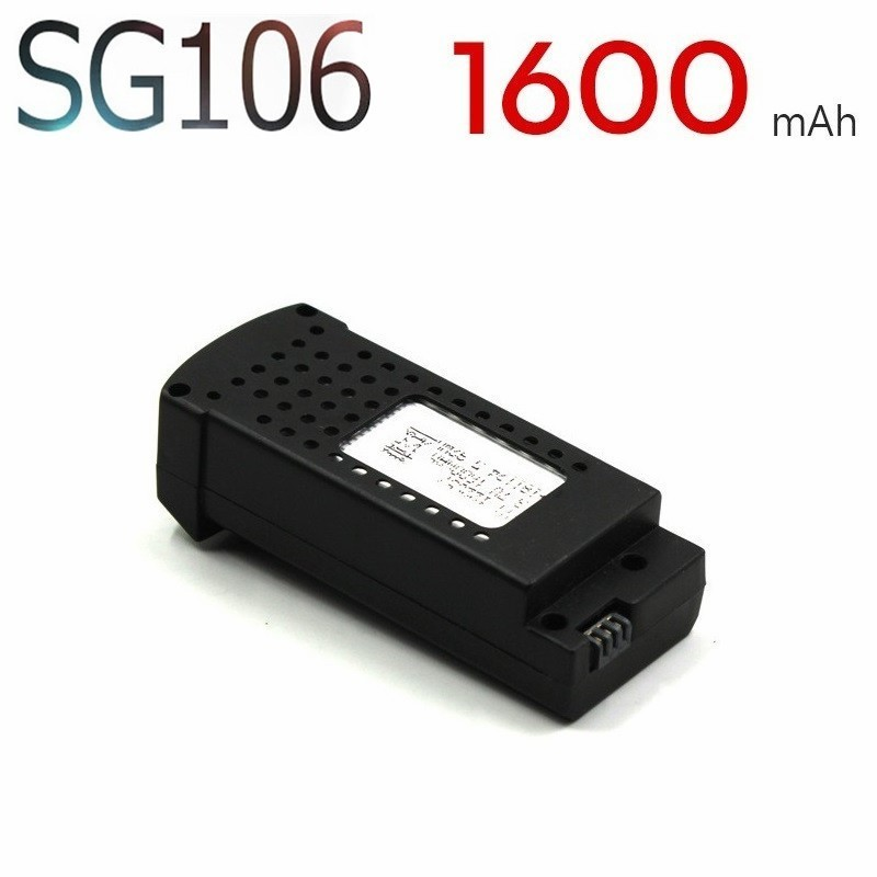 Original 3.7V 1600mAh Lipo Battery For SG106 RC Helicopter Quadcopter Spare Parts 3.7v Drone Rechargeable Battery