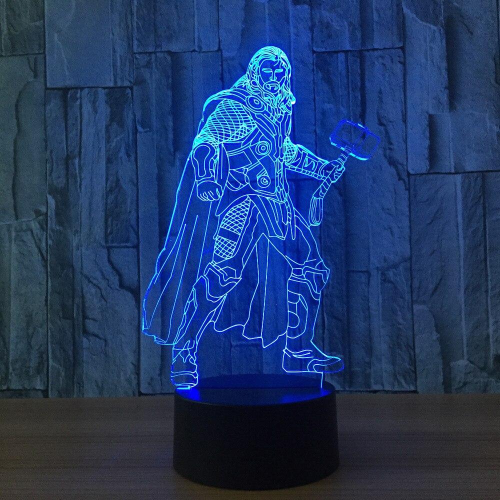 Thor Hammer Lampe : buy 1piece 7 colors change 3d lamp marvel ~ Jslefanu.com Haus und Dekorationen
